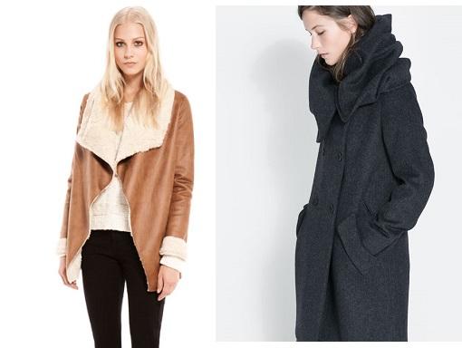 abrigos con cuello maxi