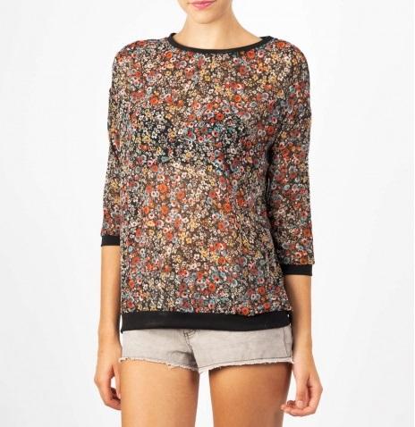 Camiseta de flores shana