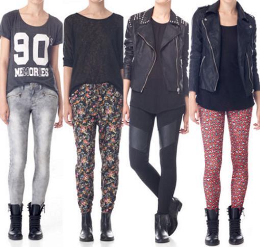 stradivarius ropa 2013 pantalones leggins