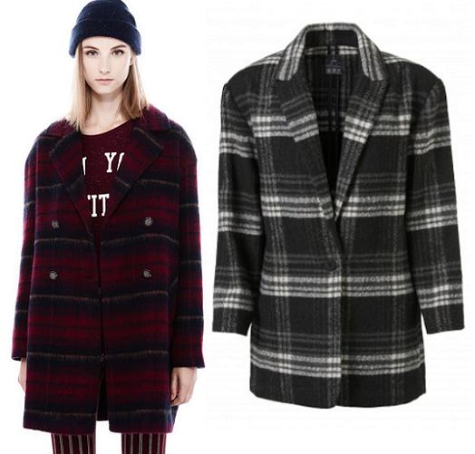 Abrigos mujer de la moda otoño invierno 2013 2014 cuadros