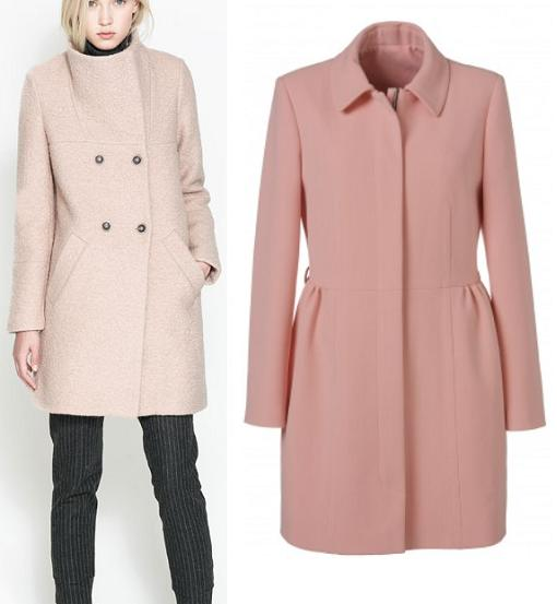 Abrigos mujer de la moda otoño invierno 2013 2014 rosa