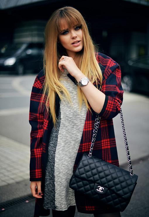Looks de moda otoño invierno 2014 cuadros