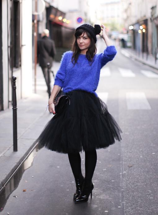 Looks de moda otoño invierno 2014 fiesta faldas de tul