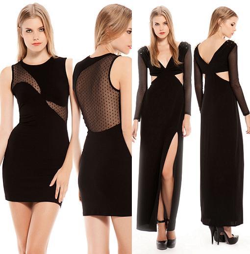 vestidos de fiesta y nochevieja 2014 bershka