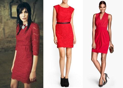 Vestidos rojos para Fin de año