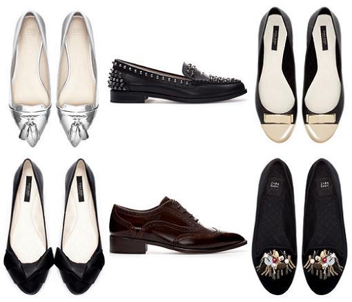 zapatos planos y bailarinas de zara 2013 2014