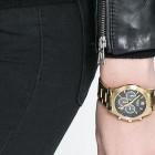 reloj dorado zara