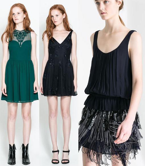 Vestidos de fiesta y Nochevieja de Zara 2013/2014