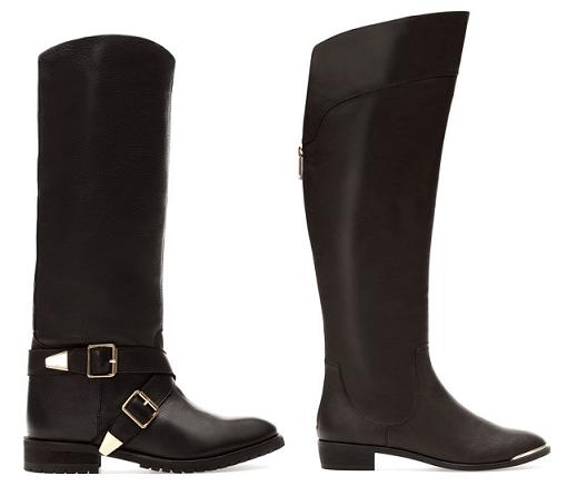 zapatos pull and bear botas moteras