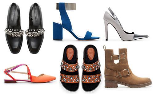 nuevos zapatos de zara primavera verano 2014 especial nuevas tendencias