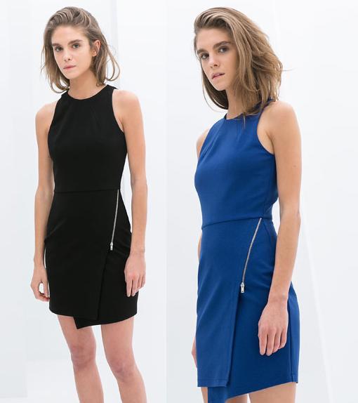 vestidos de zara 2014 cremallera