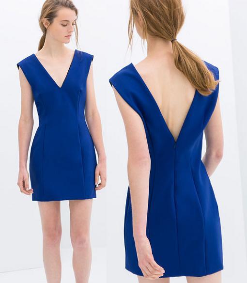 vestidos de zara 2014 escote pico