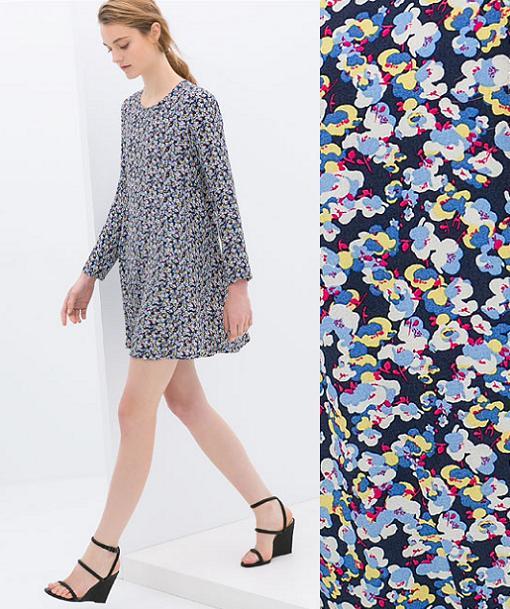 vestidos de zara 2014 estampados