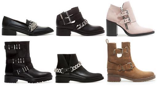 zapatos botines zara 2014 moteros