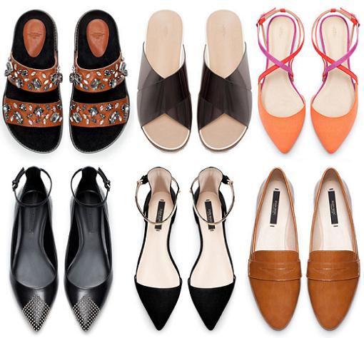 zapatos zara 2014 sandalias planas