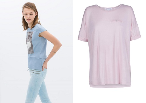 Camisetas colores pastel