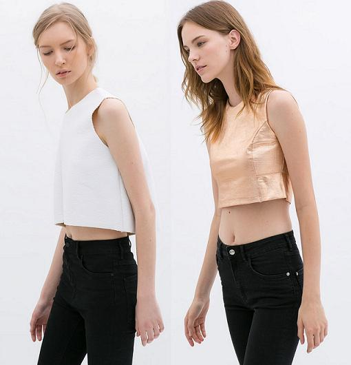 crop tops zara 2014