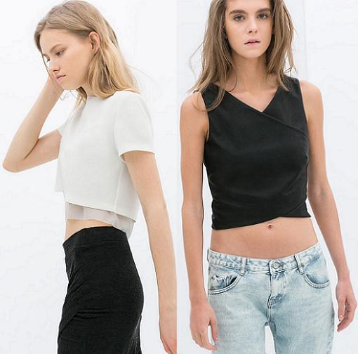 crop tops zara mini 2014