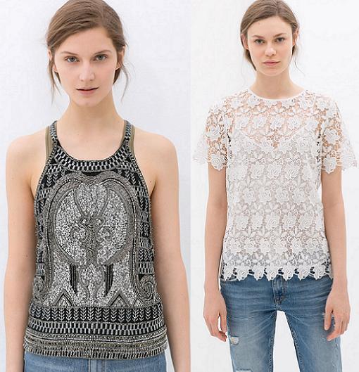ropa zara woman primavera verano 2014 tops