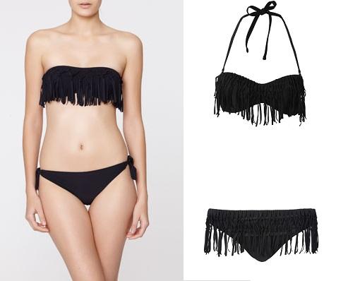 bikinis negros de flecos