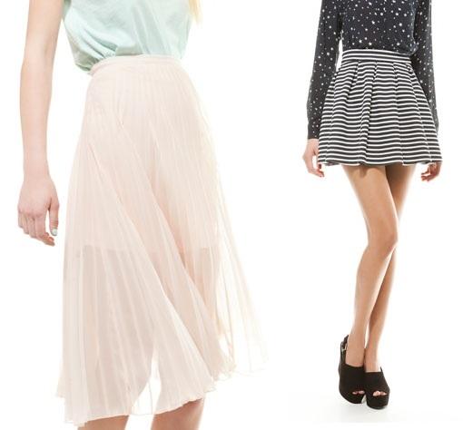 Faldas de moda Bershka
