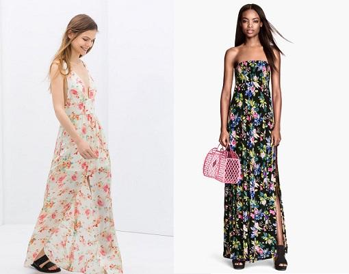 vestidos largos de flores