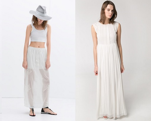 Vestidos y faldas bordados