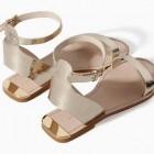 Sandalias de Zara verano 2014: sandalias planas, plateadas, de fiesta, cangrejeras, doradas, de tacón