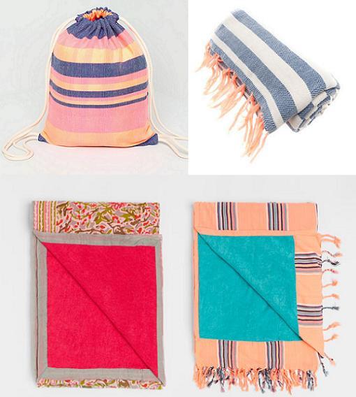 Bolsas de playa sombreros y m s accesorios para el verano - Toallas de playa dobles ...