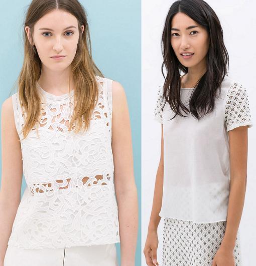 ultimas tendencias en moda verano 2014 zara guipur