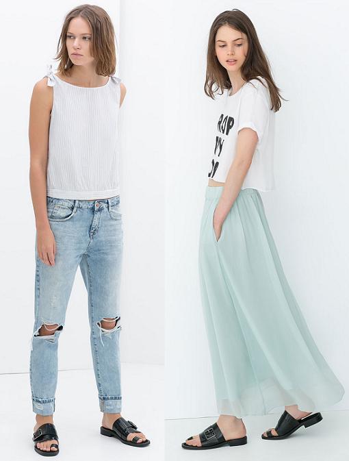 ultimas tendencias en moda verano 2014 zara ropa
