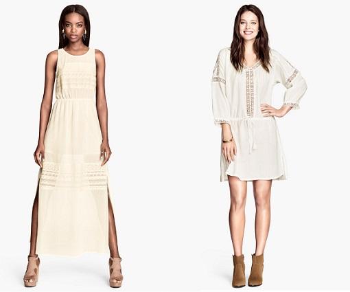 vestidos ibicencos de H&M