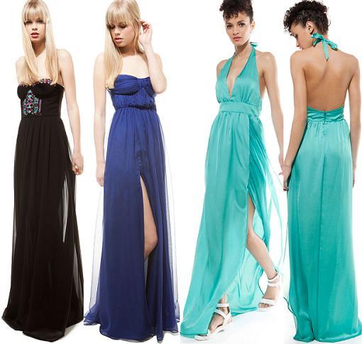 Vestidos de fiesta largos temporada 2014