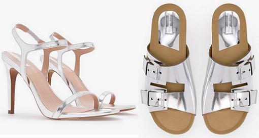 zapatos stradivarius sandalias plateadas 2014