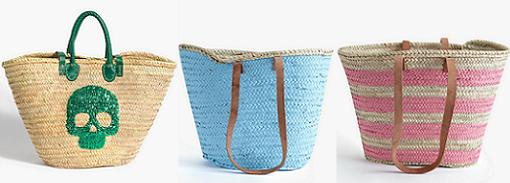 cestos de mimbre bolsas de playa