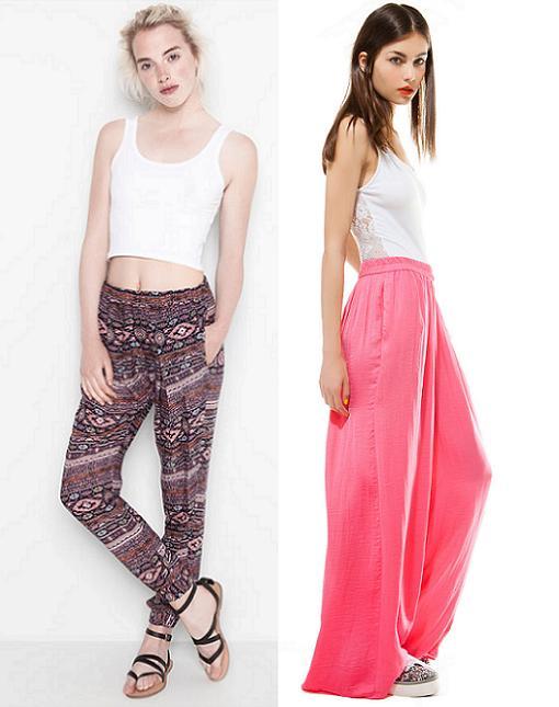 pantalones anchos moda verano 2014