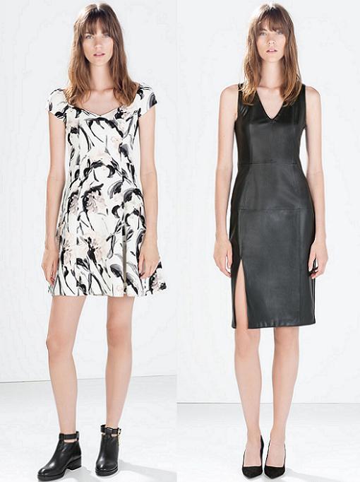vestidos zara cortos otoño invierno 2014 2015