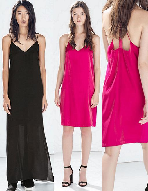 vestidos zara lenceros otoño invierno 2014 2015