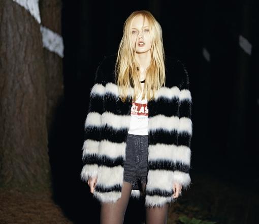 catalogo bershka abrigos de pelo otoño invierno 2014 2015
