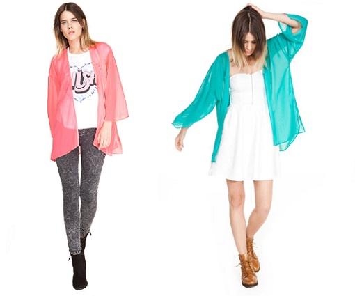 kimonos de colores