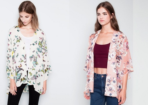 Pull and bear kimonos