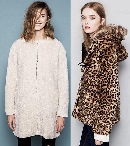 abrigos de pelo pull and bear otoño invierno 2014 2015