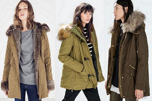 67a8e698e836 Nuevos abrigos de Zara otoño invierno 2015: parkas, de piel, capas ...