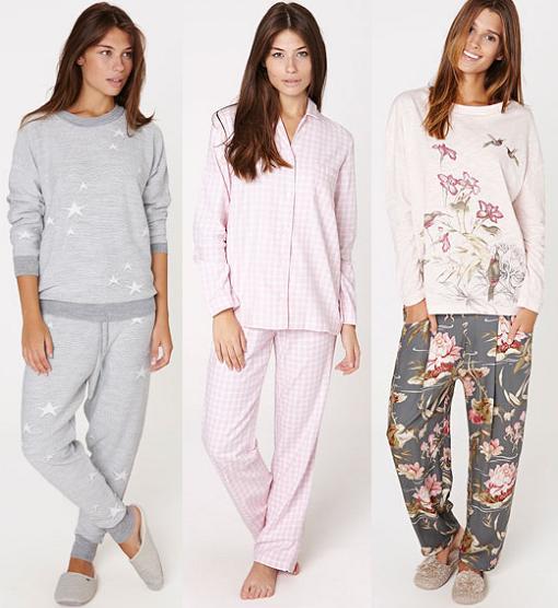 pijamas oysho estampados otoño invierno 2015