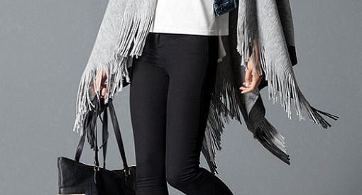Ponchos del invierno 2015: de lana y con flecos, una tendencia imprescindible