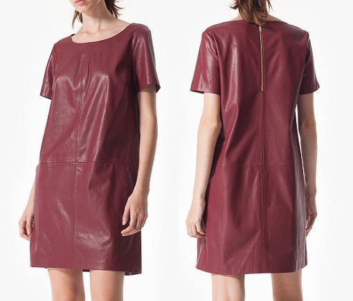 stradivarius vestidos de cuero