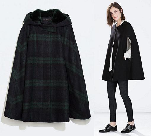abrigos capa zara