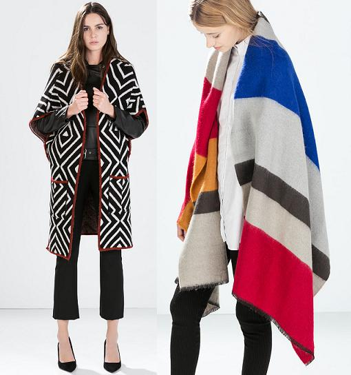 ponchos de moda