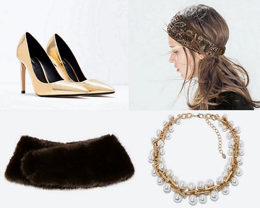 accesorios de fiesta zara zapatos diademas