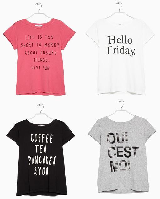 camisetas con mensaje mango